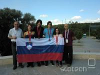 Z leve: Darko Dolenc, Maja Petek, Nejc Petek, Tilen Potisk, Katarina Čermelj in Andrej Godec