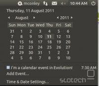 indicator-datetime (Clock)