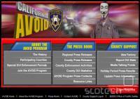 Nova podoba spletne strani kalifornijske prometne policije.