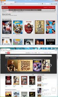 Sveža ponudba pri Netflix oz. Youtube Movies. Google ima vidno bolj sveže in popularne naslove.