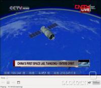 Tiangong-1 po izstrelitvi
