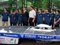 Zmagovalci zadnje dirke, z Japonske univerze Tokai.
