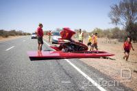 Ekipa Twente je predlani po nezgodi končala ob cesti. Letos se jim je že v prvih urah zgodilo podobno, a so nadaljevali.