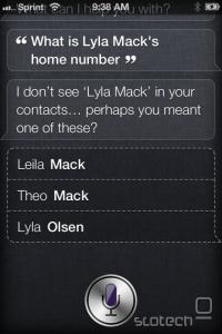 Kraja telefonskih številk skozi Siri.