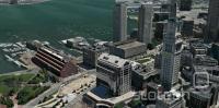 3D zemljevid Bostona.