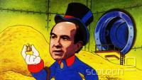 Viacomov Phillippe Dauman ($85 mio letno), satirično upodobljen kot Disneyev stric Skopušnik.