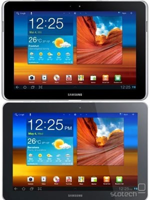 Originalni Galaxy Tab 10.1 (zgoraj) in novi Galaxy Tab 10.1n