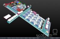 Pregled strukture spletne strani v 3D, izdelan z WebGL.