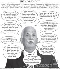 Karikatura National Posta ponazarja vso absurdnost Vicovega argumenta.