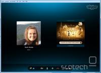 Oglas tekom Skype pogovora.