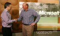 David Sakcs (levo, Yammer) in Steve Ballmer (Microsoft)