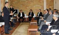 Kiyoshi Kurokawa, med preliminarno predstavitvijo poročila v parlamentu.