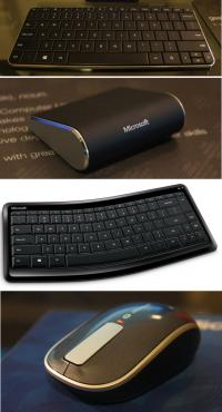 Od zgoraj navzdol: Wedge Mobile Keyboard, Wedge Touch Mouse, Sculpt Mobile Keyboard, Sculpt Touch Mouse.