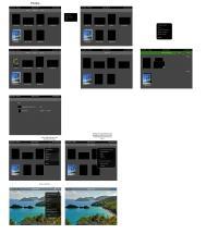 Koncept pregledovalnika slik, po zgledu iOS-a.