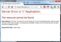 Napaka 404 namesto obvestila