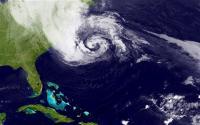 Sandy pred prihodom na ameriško celino.