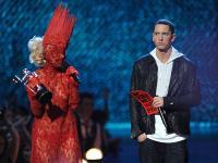 Eminem, med eno od svojih promocijskih obveznosti.