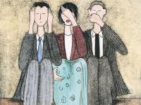 Hear no evil, see no evil, speak no evil, therefore there must be no evil.