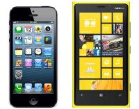 iPhone 5 in Lumia 920