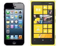 iPhone 5 in Lumia 920