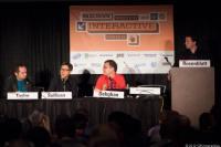 SXSW Interactive. Z leve: Mike Taylor, Jay Sullivan, David Dehghan in Seth Rosenblatt.