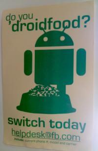 Facebook poskuša s posterji prepričati zaposlene, naj preklopijo iz iPhona na Android.