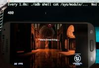 Grafični čip med poganjanjem demota Epic Citadel - 480MHz.