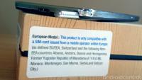 Opozorilo na evrospki izdaji Galaxy Note 3, ki preprečuje odpiranje škatle