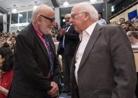 Englert in Higgs sta se prvikrat srečala šele lani na razglasitvi odkritja v CERN-u.