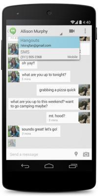 Sporočila SMS v aplikaciji Hangouts