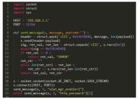 Del kode skripte, ki jo je uporabil Vanderbeken