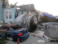 To ni letalska nesreča, ampak kulisa za snemanje v Universal Studios