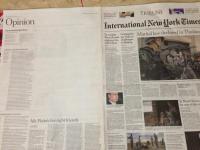 Cenzuriran članek o cenzuri na Twitterju v pakistanski verziji New York Timesa.