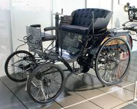 Benz 'Velo' model (1894) by German inventor Carl Benz - entered into an early automobile race as a motocycle