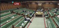 Spodnji dom parlamenta razpravlja o zakonu. Glasovalo jih je 441.