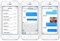 Sporočila iMessages je mogoče prepoznati po modrih sporočilih pošiljatelja namesto zeleno obarvanih SMS-ov