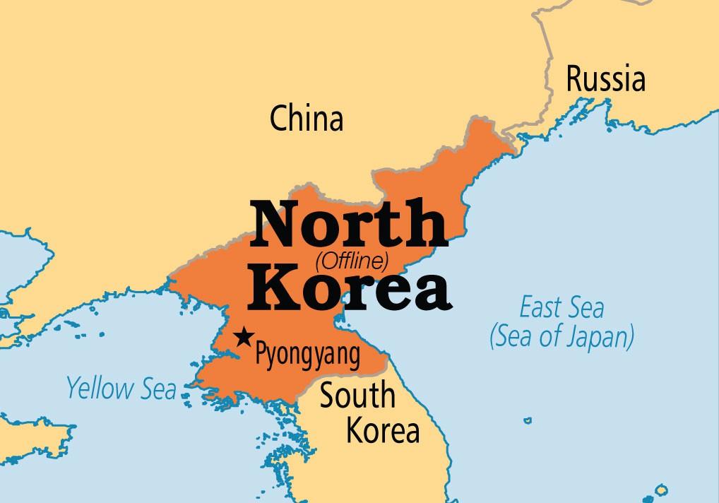 severna koreja mapa Nadaljevanje sage Sony/Interview: Severna Koreja brez interneta  severna koreja mapa