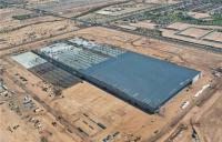 Tovarna GTAT v Mesi med gradnjo