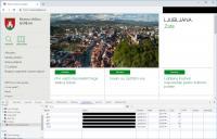 Spletna stran mestne občine Ljubljana.