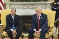 Paolo Gentiloni in Donald Trump